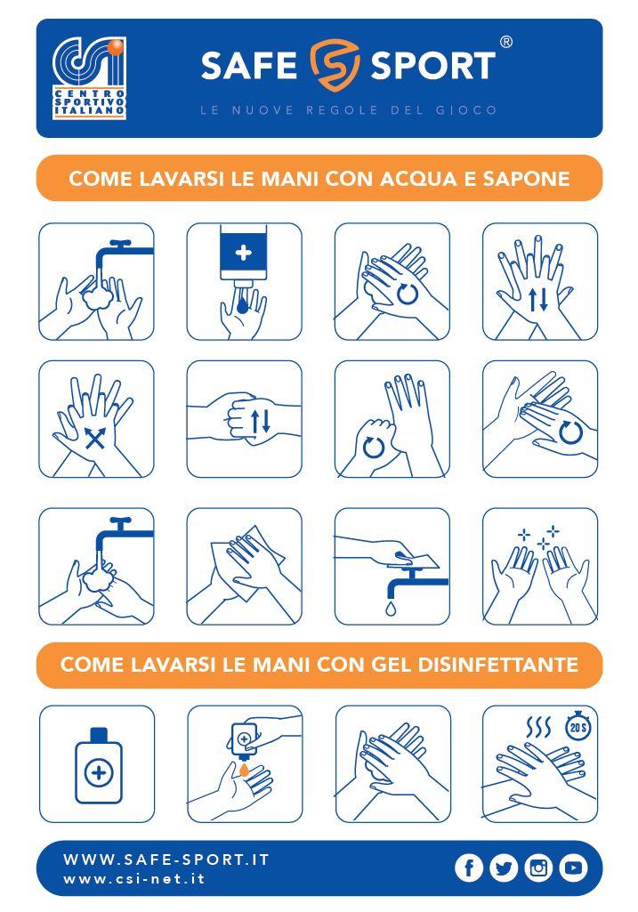 informazioni covid - come lavarsi le mani